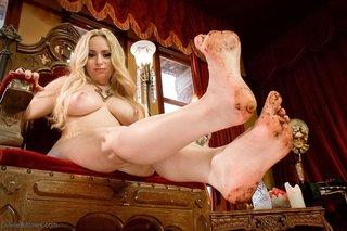 blonde, feet, femdom, milf