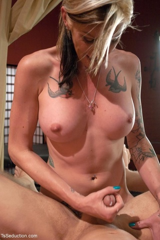blonde tranny tattoos enjoys