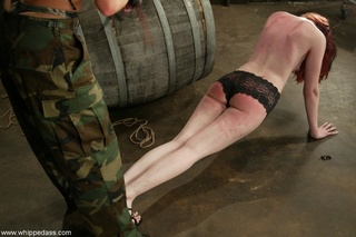 army girl humiliating redhead