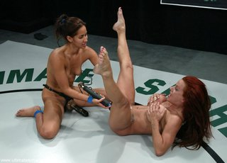muscled redhead passionate fight