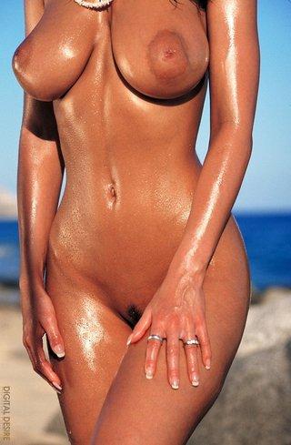 beach, erotica, oiled, tits