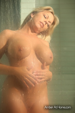 busty blonde mom shows