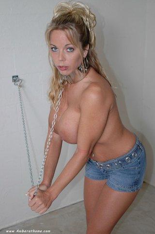 blonde, individual model, slut, tied up