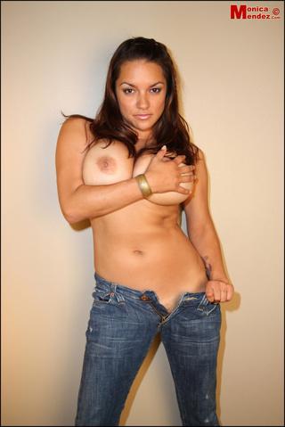 busty hot model wears