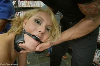 blindfolded blonde cum facial