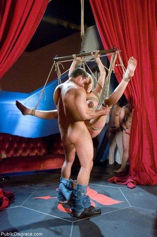 slave training dutiful blonde