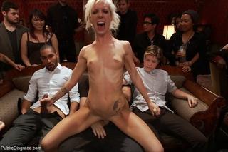 blonde covered cum submissive
