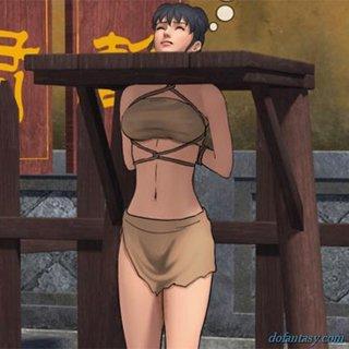 Naked girls hanged seems
