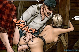 tied blonde slave rammed