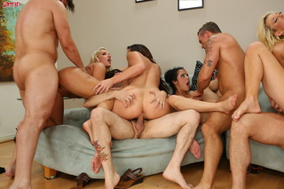 perfect orgy with many