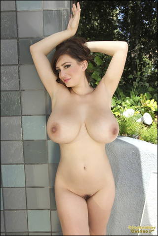huge natural breast babe