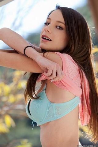 innocent brunette large-natural boobs
