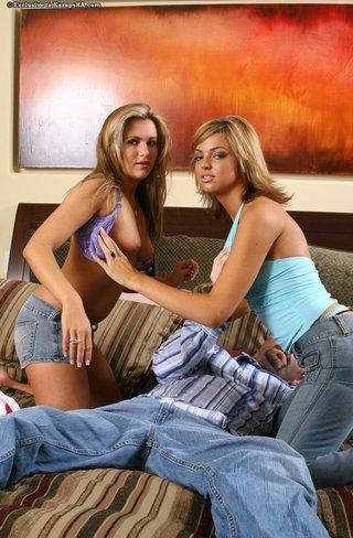 amateur, blonde, jeans, tits
