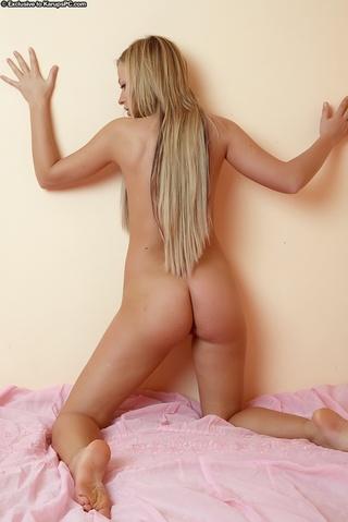 alluring blonde goddess flaunts