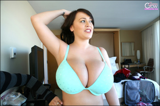 beautiful girl works squeeze
