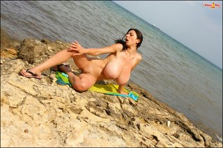 babe, beach, big tits
