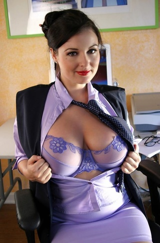 busty secretary boss likes