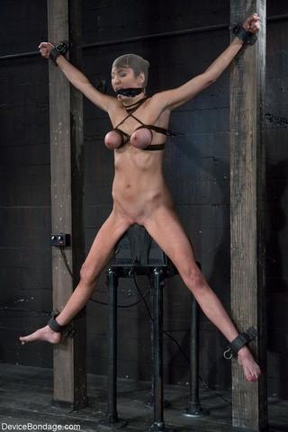 girls sexy breasts bound