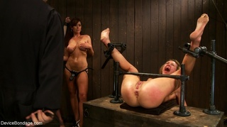 lesbian strap-on play painful