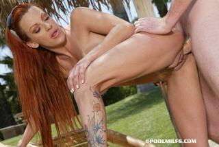 gorgeous redhead big tits