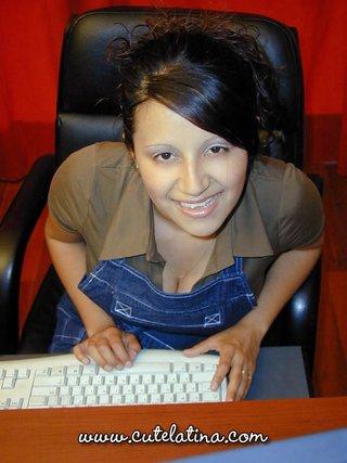 latina, office, secretary, tight