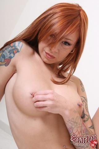 redhead white bikini wild