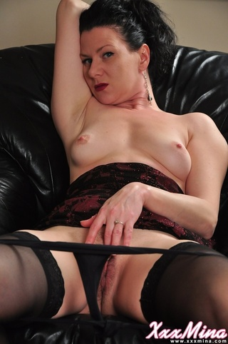 gorgeous mature gal black