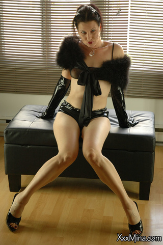 milf irresistible tight leather
