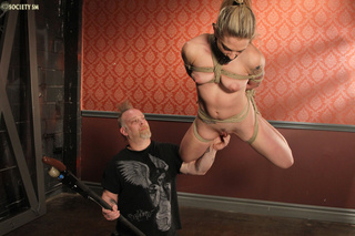 hot blonde suspended gagged