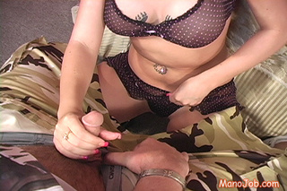slutty brunette girl kneels