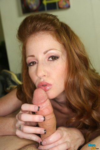 handjob, redhead