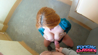 crazy-minded redhead teenager boots