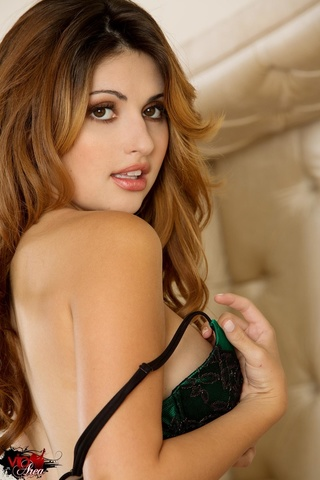 beautiful brunette green black