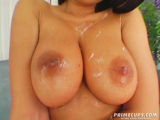 brunette girl huge tits