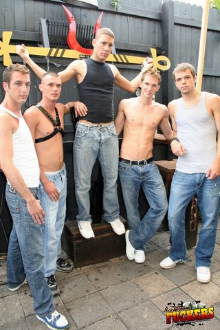 handsome studs pose topless