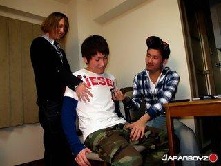 asian, gay, uniform, white