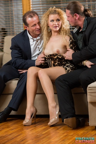 curly blonde teases luscious