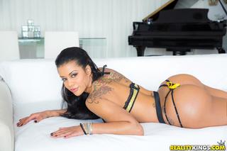 Black Haired Tattoed Latina