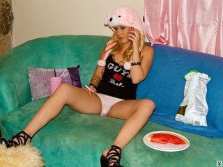 blonde, erotica, perky, tits