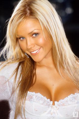 honey-blonde blue eyed bombshell