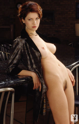 short haired brunette model
