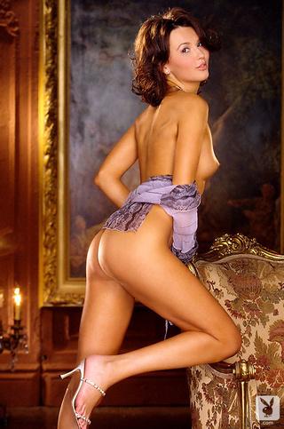 lovely brunette model glamour