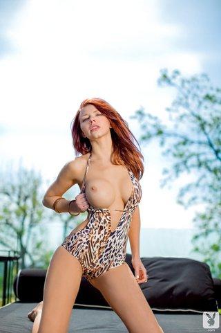 erotica, gorgeous, redhead, swimsuit
