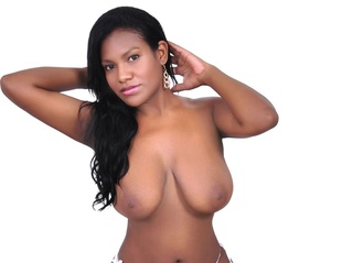 ebony girl big tits