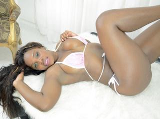 ebony girl big tits