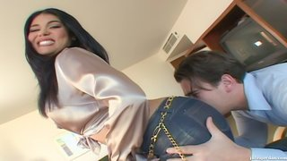 raven haired chick fucked