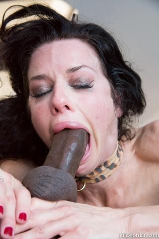 big tit brunette takes