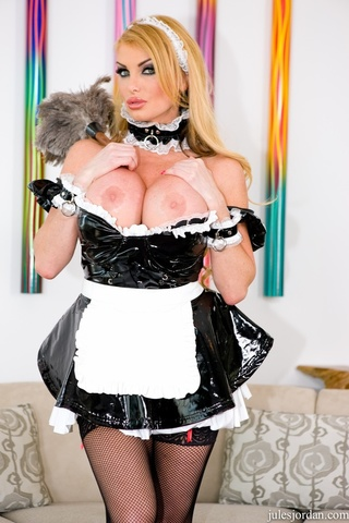 naughty blonde maid pussy