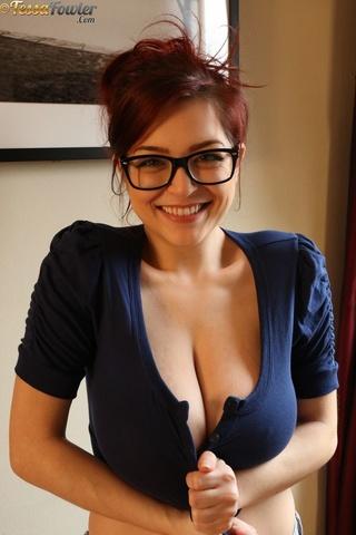 in glasses Slut