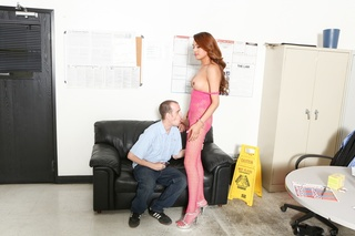 brunette transsexual pink lacy